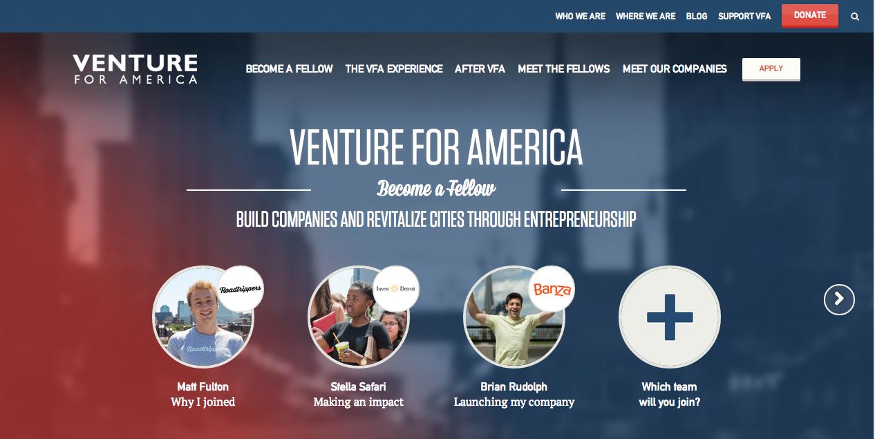 venture-for-america-homepage