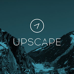 Upscape Logo on blue mountain background thumbnail