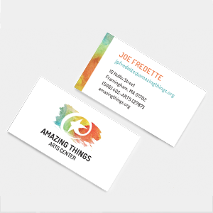 Amazing Things Identity business cards
