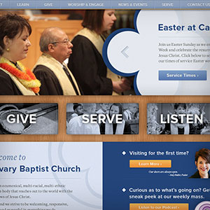 Calvary Baptist Church new website