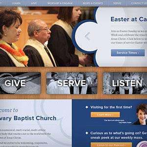 Calvary Baptist Church new website