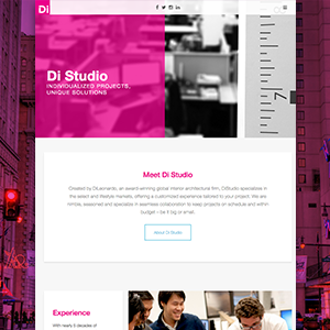 Di Studio website homepage thumbnail