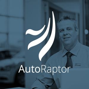 Autoraptor logo with business man behind blue background thumbnail
