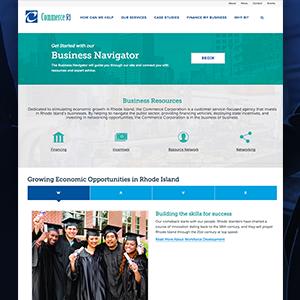 Commerce Ri website homepage thumbnail