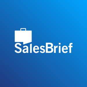 Thumbnail for SalesBrief with suitcase logo and blue background