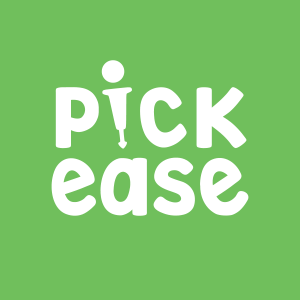 pickease logo on green background thumbnail