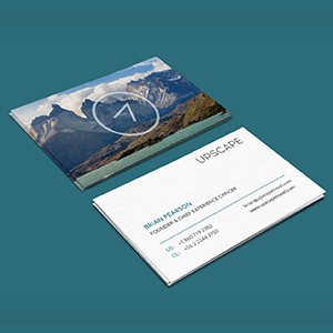 upscale thumbnail of business card with logo